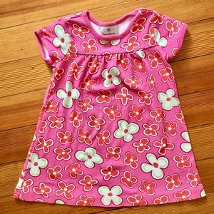 Hanna Andersson dress size 90 (3t) pink floral